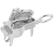 Baby Grand Piano Charm Sterling Silver Arts, Music And Entertainment Style 8252