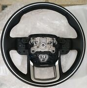 Range Rover Velar L560 L405 L494 Ebony Heated Steering Wheel With Chrome Ring