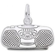 Boom Box Charm Sterling Silver Arts, Music And Entertainment Style 2998 Rembra