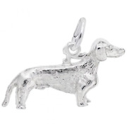 Dachshund Dog Charm In Sterling Silver - Animal Charms Collection