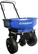 Chapin Walk Behind Salt And Ice Melt Broadcast Spreader 80lbs Rugged Poly Hopper