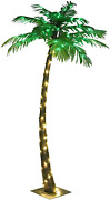 Lighted Palm Tree 5 Ft Fake Artificial 56 Led Lights Home Pool Garden Decoration