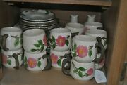 Franciscan China Desert Rose Pattern 100 Pieces Of Plates.cups Dishes And More