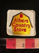 Vtg Albers Country Store Advertising Patch 03r