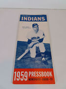 1959 Cleveland Indians Press Radio Tv Yearbook Media Guide