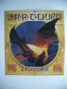 J.r.r. Tolkien 1996 Calendar Ted Nasmith Lord Of The Rings Spring Binding