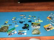 Bass Fishing Lures Lot And Reel Lunkerhunt Topwater Baits Soft Plastic