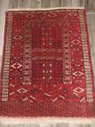 4x5ft. Antique Tekke Turkoman Enzi Wool Tent Door Rug