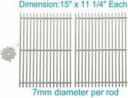 Petkao Pn521 Stainless Steel Cooking Grid/grates For Weber Genesis Silver A, Spi