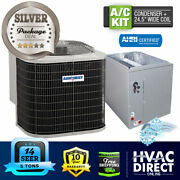 5 Ton 14 Seer Airquest-heil By Carrier Air Conditioning Condenser + 24.5 W Coil