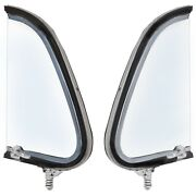 1948 49 50 Ford Truck Vent Window Assembly Clear Glass And Frame Pair Right+left