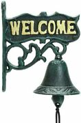 Sungmor Heavy Duty Cast Iron Wall Hanging Bell Welcome Sign - Decorative Vintage