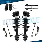 10pc Front Struts And Spring + Sway Bars Tie Rods Kit For 2008 - 2011 Nissan Rogue