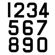 Replacement Optimist Sail Numbers - Class Legal - Black 4