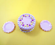 Barbie Doll Decorated Birthday Cake Candle Pink Plates Dinnerware Accessories
