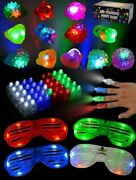 Joyin 60 Pieces Led Light Up Toy Glow In The Dark Party Supplies, Party Favors F