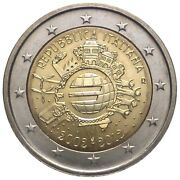 Italy 2012 - 2 Euro Comm - 10th Anniversary Intro Of Euro Coins And Notes Unc