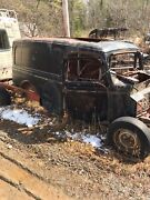 1937 Ford Panel Truck Body. Rough Rusty Old Paint Lettering Patina Project Sign