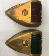 Vintage Brass Red Green Nauticle Running Lights