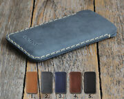 Leather Case For Samsung Phone. Hand Stitched Pouch. Free Personalization