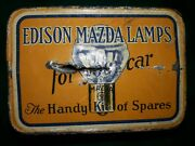 Vintage Edison Mazda Lamps Auto Spare Bulb Lamp Kit Tin Can Gas Oil Ge No Lamps