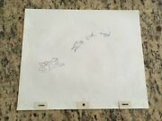 Disney Peter Pan Group Flying Production Cel Pencil Drawing