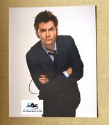 David Tennant Autograph Signed 11x14 Photo Dr Doctor Who Coa