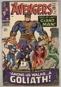 Avengers 28 May 1966 Vg- First Collector