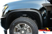 Ftch846 15-21 Chevy Colorado/gmc Canyon Matte Black Stainless Steel Fender Trim