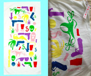 Todd James Reas X Opening Ceremony Limited Edition Towel Street Art Spring Break