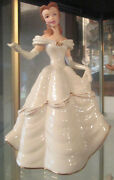 Disney's Beauty And The Beast  Belle  My Heart Is Yours  Figurine By Lenox