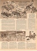 Vintage 1955 Pedal Cars Steel Autos Toy Wagons Prints Ads Clippings