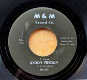 Hard Funk Instrumental 45 T.j. And The Group Blues For The B's/reddy Freddy Mandm