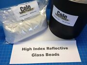Reflective High Index Glass Mcro-beads And White Acrylic Paint Gallon Combo