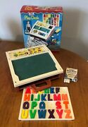 Vintage Boxed Fisher Price Play Desk Incomplete For Spares