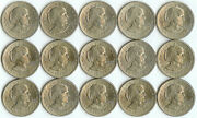 15 1979 Sandd Susan B Anthony One Dollar Coins 1 Collectible Circulated Currency