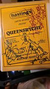 Queensryche Autograph Hastings Recording Party Flyer