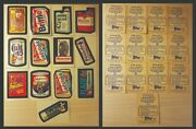 1982 Wacky Packages Topps Cereal Album Sticker Lot Of 13