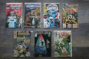 Vintage Comic Books Miscellaneous, 7 Total 5 Marvel, 1 Dc And 1 Gijoe
