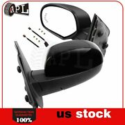 Power Heated Memory Turn Signal Puddle Light Side Mirrors For 2007-13 Gmc Chevy