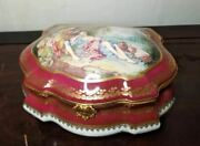 Large Maroon Chest - Lovers Jewelry Limoges Box - 1 Of 250 - Extremely Ra
