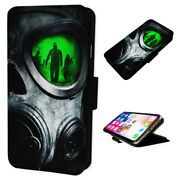 Gas Mask Horror - Flip Phone Case Wallet Cover - Fits Iphones And Samsung