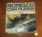 Vtg 1960s Norelco 2602 Car Player Auto Stereo Tape Cassette Player Rare Untested