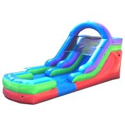 23and039l X 13and039h Retro Commercial Inflatable Water Slide And Blower Single Lane Wet Dry