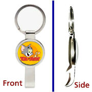 Tom And Jerry Cat Mouse Pendant Or Keychain Silver Tone Secret Bottle Opener