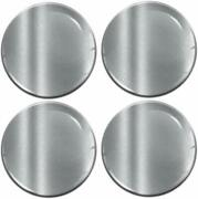 50mm 3d Silicone Stickers Decals Wheel Center Hub Rims Caps Silver Universal