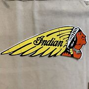 Vintage Indian Motorcycle Giant Sticker Chief Scout Chout 101 Vintage