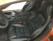 2005-2011 C6 Corvette Replacement Leather Seat Covers Black With Special Design