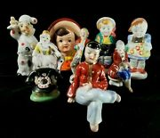 9 Vintage 1940s To 1950s Occupied Japan Porcelain 8 Figurines And 1 Planter Fine