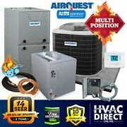 2 Ton Airquest-heil By Carrier 14 Seer 96 80k Btu Gas Furnace And Ac System W/kit